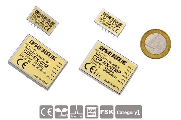 Low-Power Funkmodule CDP-TX-07M(P) und CDP-RX-07M(P) von Circuit Design
